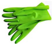 Rubber Gloves -GREEN, FSC certified and Fair Trade