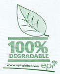 Degradable Leaf Logo A4+ bags