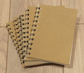 Plain Note Books - plain cover, wire-bound, A6