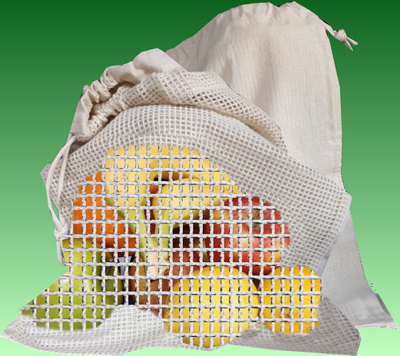 Tie String Cotton NET BAG 30x38cm UNPRINTED