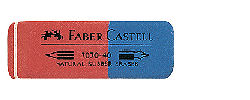 Eraser Red & Blue - for pencil & ink