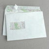 C5 Map White Envelopes - window, peel&seal