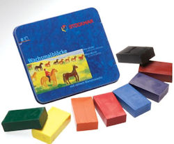 Wax Colouring Blocks in a Tin - Stockmar
