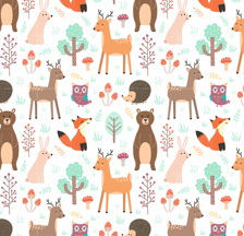 Forest Animals Giftwrap