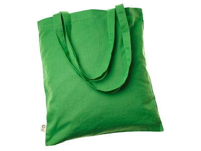 Cotton Bags - coloured 100% Fair Trade Organic GREEN