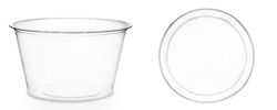 Portion Pots Clear compostable - 1oz Mini