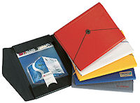 Slim Hardback Folder A4 - with elastic, coloured