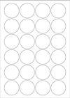 Compostable Laser & Inkjet Labels - 24 /sheet - ROUND 45mm
