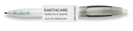 Retractable Refillable BLACK Plant-Pen EARTHCARE