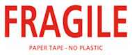 FRAGILE Paper Tape - 5cm wide