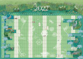 2022 A2 YEARLY WALL PLANNER