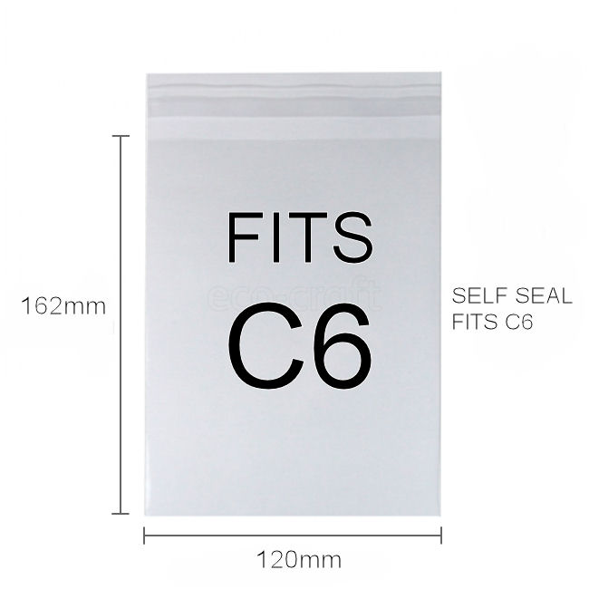 PLA Clear Eco Bags - C6+ peel & seal