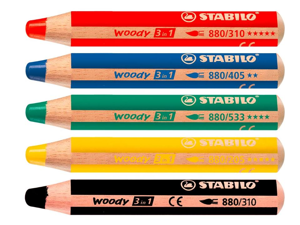Flipchart Woody Thick Super Soft Pencils - ASSORTED colours