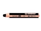 Flipchart Woody Thick Super Soft Pencils - BLACK