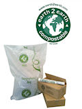 Earth2Earth Compostable Sacks - Brown Council Bin Liners