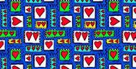 Cartoon Hearts Giftwrap - NEW