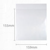 PLA Clear Eco Bags - 159x155mm  peel & seal
