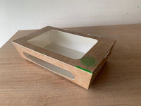 Compostable Brown Salad boxes with clear lids