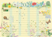 2021 A2 YEARLY WALL PLANNER