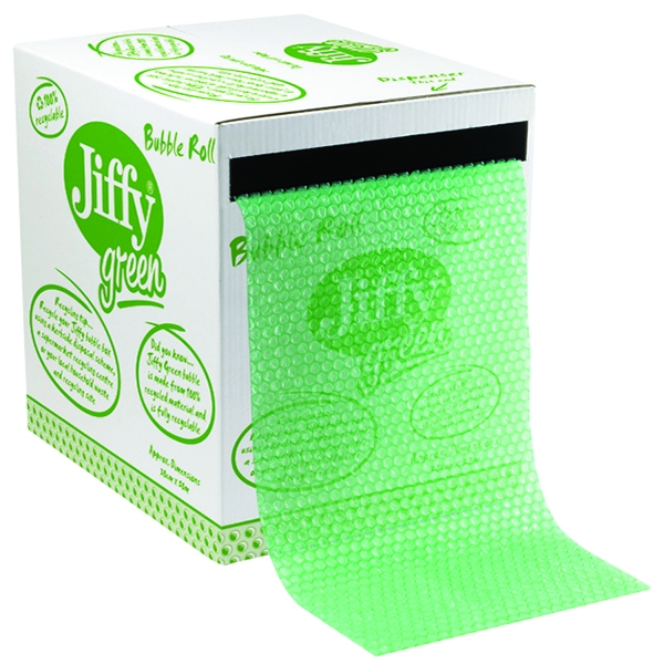 Green Bubble Wrap in Dispenser Box