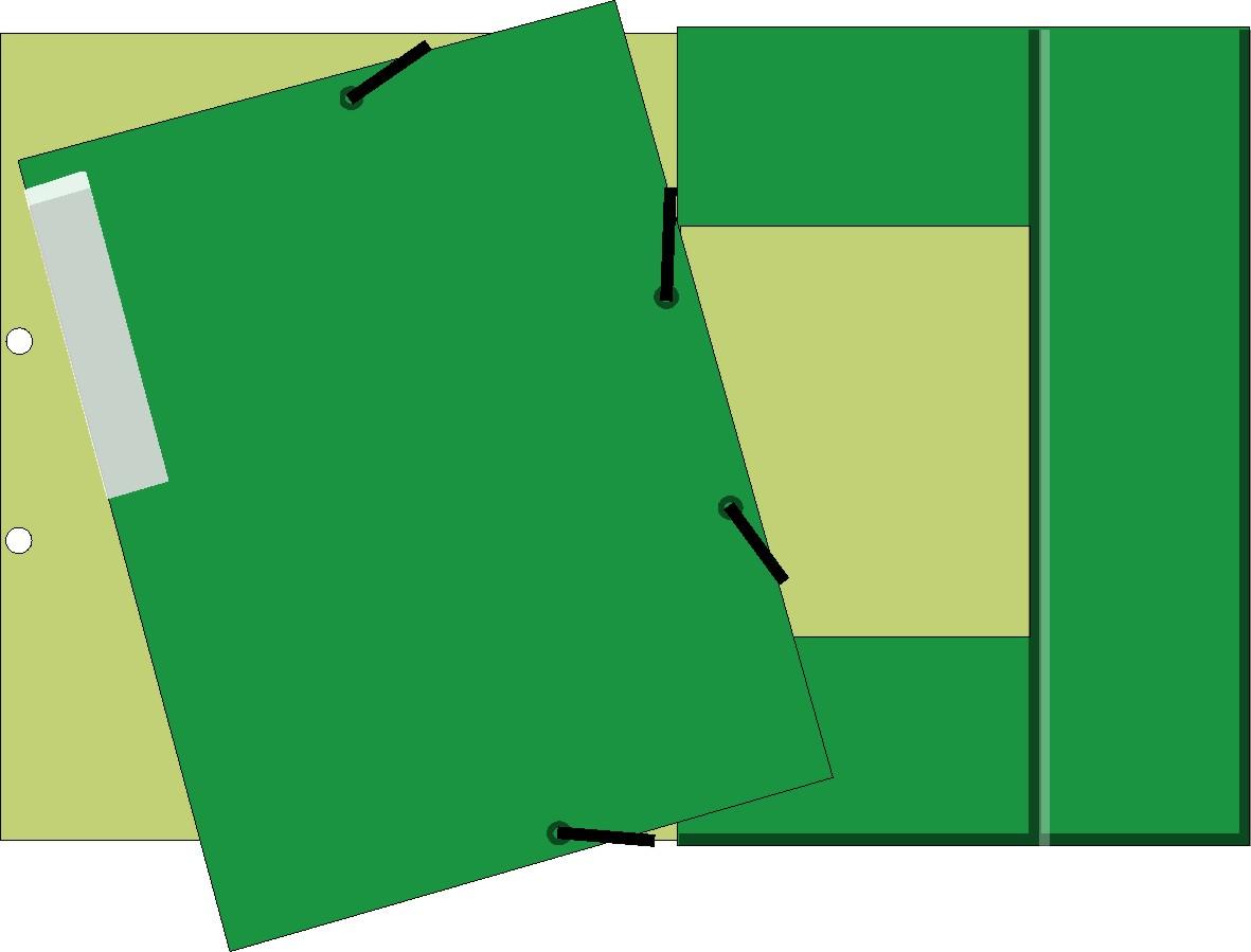 3-flap Folder - Green Dual Tone