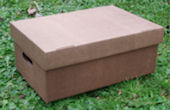Storage Box - Medium - Brown Striped