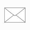 C6 White Envelopes, Deep Diamond Flap, Gummed