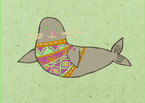 Nicola Colton Card: Seal