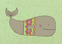 Nicola Colton Card: Whale